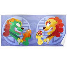 Silly Beasty : Foo Dog couple Poster
