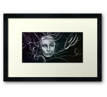 Underwater Female Sketch Framed Print