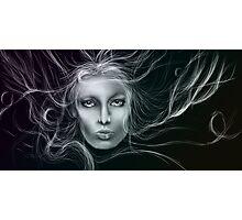 Underwater Female Sketch Photographic Print