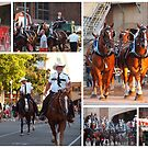 Horses and their riders at the Minnesota State Fair (best viewed enlarged) by Nanagahma