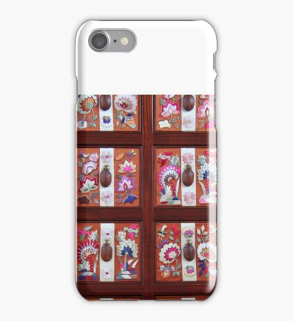 Folk Flower Pattern, Korean Embroidered Chest iPhone Case/Skin