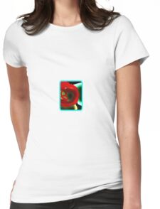 Glowing Hot Peppers  Womens Fitted T-Shirt
