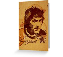 George Best - Coffe stain Greeting Card