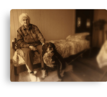 Two Lady Senior citizens  Canvas Print
