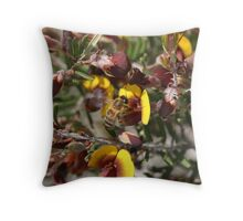 Bee in a Pea Throw Pillow