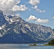 Teton Range Across Jackson Lake by Caleb Ward