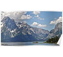 Teton Range Across Jackson Lake Poster