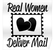 REAL WOMEN DELIVER MAIL Poster