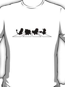 pokemon - Abbey Road - beatles T-Shirt