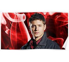 Dean Winchester (Jensen Ackles) - Red Smoke Poster