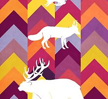 Antlers & Chevrons - Warm by maxinefeen