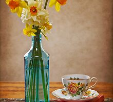 Daffodils and Tea by Chris Cobern