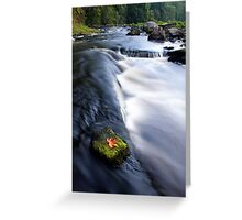 Picturesque countryside river Greeting Card