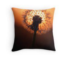 Dandelion silhouette Throw Pillow