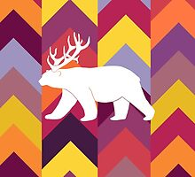 Chevron Bear - Warm by maxinefeen