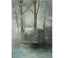 The Old Water Wheel Photographic Print