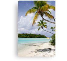 Cook Islands Palm - Aitutaki Canvas Print