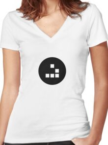 Hacker emblem Women's Fitted V-Neck T-Shirt