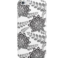 Black Abstract Flowers iPhone Case/Skin