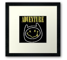 Finn Adventure Time Smile Framed Print