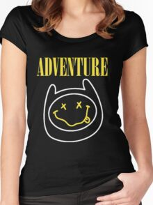 Finn Adventure Time Smile Women's Fitted Scoop T-Shirt
