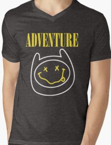 Finn Adventure Time Smile Mens V-Neck T-Shirt