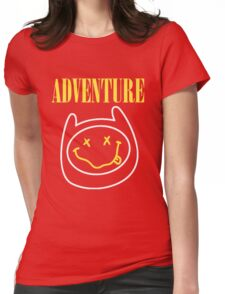 Finn Adventure Time Smile Womens Fitted T-Shirt