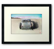 Dry Lake Thunder Framed Print