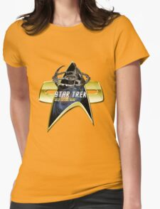 StarTrek Deep Space Nine  Com badge Womens Fitted T-Shirt