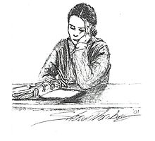 Debi study in pen Photographic Print