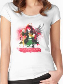 Burning Red Eyed Hunter Shana Women's Fitted Scoop T-Shirt