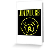 Jake Adventure Time Face Greeting Card