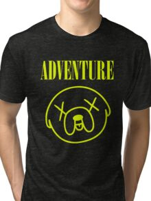 Jake Adventure Time Face Tri-blend T-Shirt
