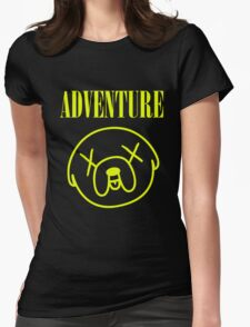 Jake Adventure Time Face Womens Fitted T-Shirt