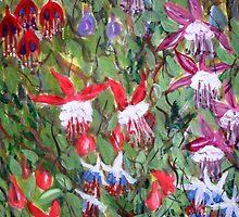 Fuchsia Mania by Juanita Newton