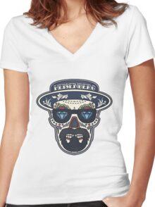 Heisenberg Bad | Day of The Dead Women's Fitted V-Neck T-Shirt