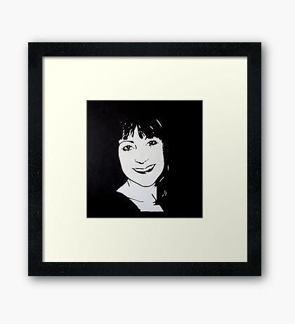 Acrylic abstract portrait Framed Print
