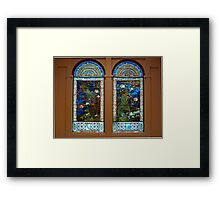 Stained glass windows, American Art Museum Framed Print