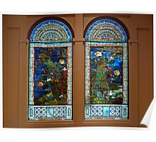 Stained glass windows, American Art Museum Poster