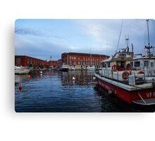 Red Naples Harbor - Vigili del Fuoco Canvas Print
