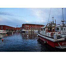 Red Naples Harbor - Vigili del Fuoco Photographic Print