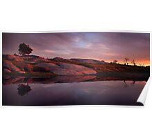 Sunset at Dog Rocks Poster