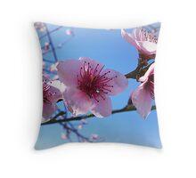 New Life on the Nectarine Tree Throw Pillow