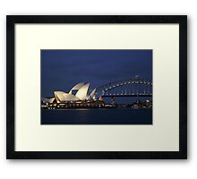 Sydney Opera and Bridge Framed Print
