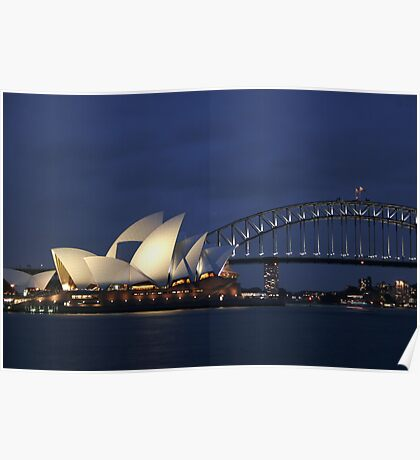 Sydney Opera and Bridge Poster