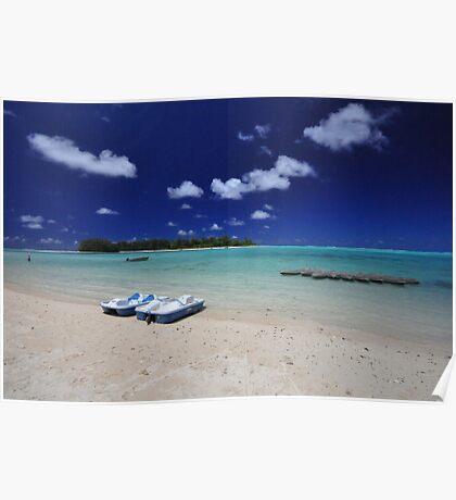 Muri Beach - Rarotonga, the Cook Islands Poster