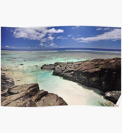 Black Rock - Rarotonga, the Cook Islands Poster