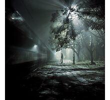 Waiting for train spectrum Photographic Print