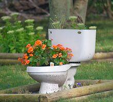 a flush of flowers by Mark de Jong