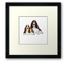 Two Bassets  Framed Print